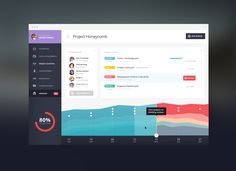 Design Team Performance data dashboard concept by Tiberiu Neamu