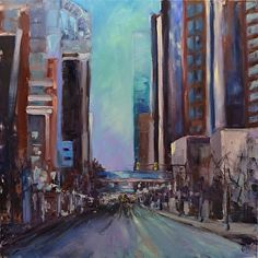 A #cityscape #oilpainting by artist Dottie T Leatherwood. Found on the FASO Daily Art Show --  http://dailyartshow.faso.com