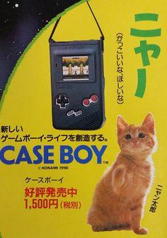 """La gatomanía tambien estuvo en los años 90 con #Konami - #Nintendo y su """"Case Boy""""."""