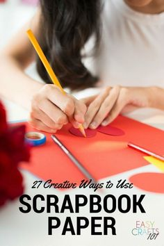 27 Ways to Use Scarpbook Paper Diy Projects For Fall, Easy Fall Crafts, Easy Art Projects, Paper Crafts For Kids, Easy Crafts For Kids, Summer Crafts, Simple Crafts, Diy Crafts, Creative Crafts