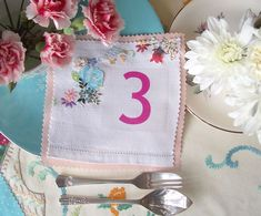 fabric table numbers