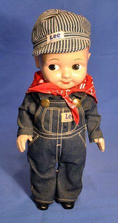Buddy Lee Engineer Doll Vintage 1950s Hard Plastic Near Mint Promotional #BuddyLee