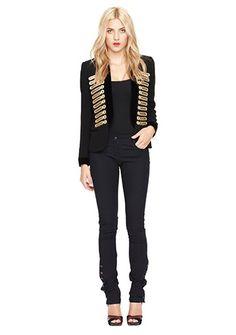 Women's Designer Clothes | Nicole Miller Official Site, NIMI-3321 GABARDINE BAND JACKET, nicolemiller.com