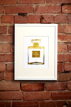 Silver Coco Mademoiselle Chanel Perfume Bottle by ISeeNoise Coco Chanel Mademoiselle, Chanel No 5, Chanel Perfume, Gold Foil Print, Foil Prints, Vanity Decor, Vintage Perfume Bottles, Wall Art Quotes, Dorm Decorations