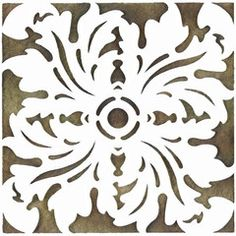 medium stencils for painting walls | Wall Stencils | Tile Stencils Reverse Acanthus | Royal Design Studio