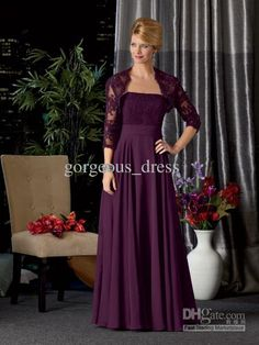 High quality! strapless purple mother of the bride dress 2013 custom made lace evening gowns purple