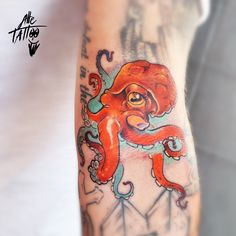 alletattoo piovra octopus color  tattoo tatuaggio newtraditional