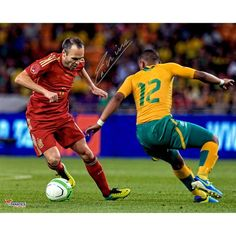 Andres Iniesta Spain Fanatics Authentic Autographed 16'' x 20'' Red Jersey Photograph - $199.99