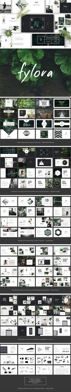 Fylora Powerpoint Template by Dotlogo_ Web Design, Layout Design, Graphic Design, Layout Template, Keynote Template, Presentation Layout, Presentation Templates, Stock Image, Print Layout
