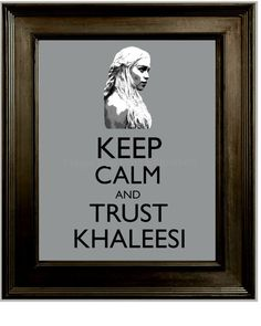 Khaleesi Art Print 8 x 10  Game of Thrones Inspired  by fringepop, $10.00