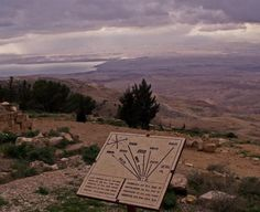 Mount Nebo - Moses viewed: The Dead Sea, the Jordan River valley, Jericho, Bethlehem and the distant hills of Jerusalem.