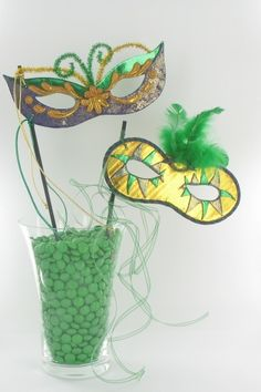 Mardi Gras Masks with Printable Template by Sculpey