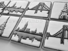 NYC cookies by SweetAmbs...she is unbelievable!