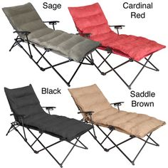 International Caravan Indoor/ Outdoor Folding Chaise Lounge Chair With…