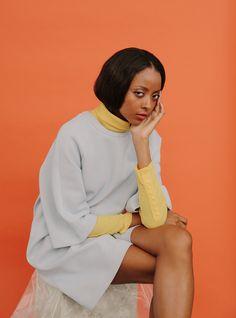 Michelene atAPM Models/Styling:Lela Maloney /H&M:Rie Tsukui November 2014 / Brooklyn, NY © amanda jas