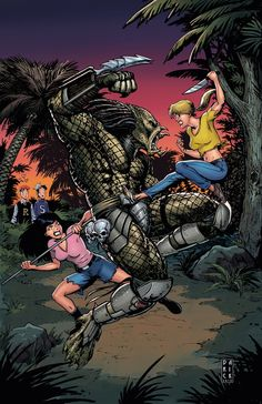 dark horse comics, archie versus predator, betty and veronica, cover variant, phoenix comic con