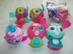 McDonalds Zoobles Spring Life Thornton Monkey Lulu Bunny Whale Lot 6 Toy Figure | eBay