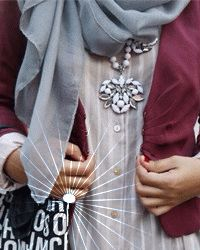 555555555555 Islamic Fashion, Muslim Fashion, Modest Fashion, Fashion Outfits, Hijab Niqab, Hijab Outfit, Hijab Fashion Inspiration, Fashion Ideas, Hijab Tutorial