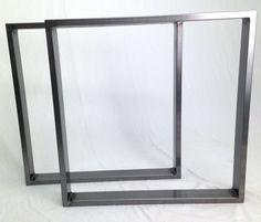 Table Legs - Steel Dining Pedestals in Industrial Steel