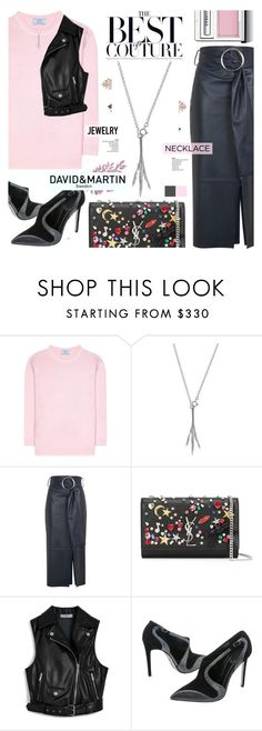 """""""Pack and Go - David and Martin Jewellery 17"""" by cly88 ❤ liked on Polyvore featuring Prada, Topshop, Yves Saint Laurent, Mulberry, René Caovilla and Clinique"""