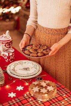 6 Mini Luxe Gold Fleur de Noël Crackers Décorations de petit-déjeuner