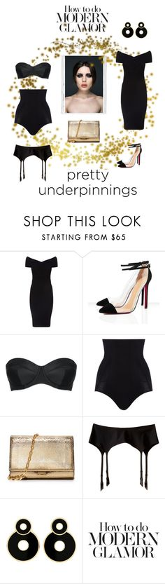 """""""modern glamor"""" by katarinaf ❤ liked on Polyvore featuring Polaroid, Maje, L'Agent By Agent Provocateur, SPANX, Michael Kors, Wolford, modern, black and prettyunderpinnings"""