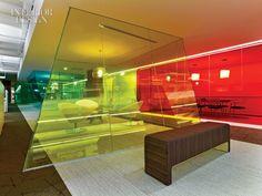 A Blushing Beauty - Elizabeth Arden Office design