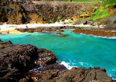 Halona Beach Cove at Oahu's south-eastern shore at the foot of Koko Crater.