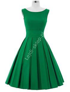 Zielona sukienka z plisowanym dołem   zielone sukienki, sukienka na wesele, studniówkę, komunie Blond, Cool Style, Formal Dresses, Vintage, Shopping, Fashion, Spring Summer, Style Fashion, Moda