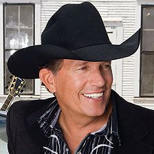 "George Strait  (quote from a Texan:  ""When I dance with a girl, she's holdin' me but thinkin' George..."")"
