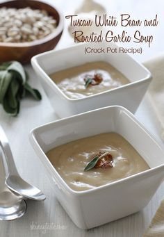 Creamy white bean soup, with roasted garlic and a touch of sage. So simple and inexpensive to make, and so so good. Leftovers can be…