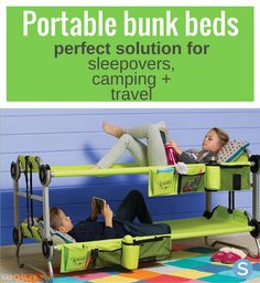 5f990170b Portable Bunk Beds Are The Perfect Solution For Your Kids' Sleepovers,  Camping Or Traveling