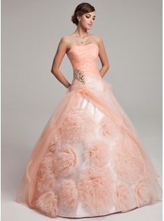 Quinceanera Dresses - $251.99 - Ball-Gown Strapless Floor-Length Organza Quinceanera Dress With Ruffle Beading Flower(s)  http://www.dressfirst.com/Ball-Gown-Strapless-Floor-Length-Organza-Quinceanera-Dress-With-Ruffle-Beading-Flower-S-021017549-g17549