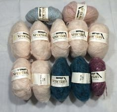 Bernat Venetian Mohair is an acrylic/nylon/mohair blend.