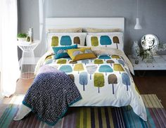 Cedar Double Duvet Multi duvet cover by Scion