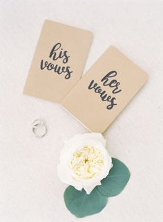 His and her wedding vows…