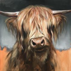 An animal lover all her life, Aimée Rolin Hoover is a contemporary wildlife painter living and working in Los Angeles, California. Highland Cow Painting, Highland Cow Art, Scottish Highland Cow, Highland Cattle, Animal Painter, Animal Paintings, Animal Drawings, Cow Pictures, Cow Pics