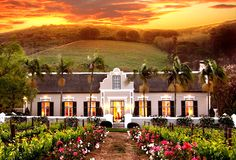 Grande Roche Hotel & Restaurant in South Africa - so beautiful, it doesn't even look real