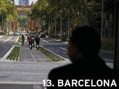 Barcelona, Spain (tie) Bike Paths that work for all. Bicycle Friendly Cities, Path Design, Bike Path, Cool Bicycles, Outdoor Fun, Paths, Street View, Barcelona Spain, City