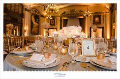 Pink and Gold Wedding Reception at Tudor Arms