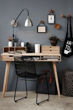 Home Office Space Design Ideas is a part of our furniture design inspiration series. Furniture Inspiration series is a weekly showcase of incredible designs Office Space Design, Workspace Design, Home Office Space, Home Office Decor, Home Decor, Office Ideas, Small Office, Work Desk Decor, Office Inspo