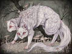 Hybridity is the law of nature in the visceral, organic artworks of Caitlin Hackett. #art #cats #creepy