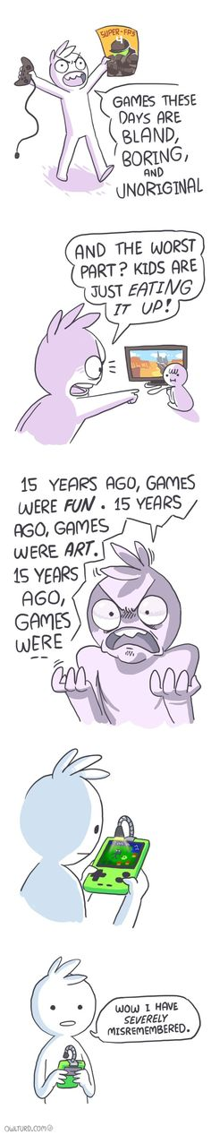 [Source: Shen Comix] The post Video Games These Days [Comic] appeared first on Geeks are Sexy Technology News. Video Game Memes, Video Games Funny, Funny Games, Logic Video, Cute Comics, Funny Comics, Shen Comics, Dc Comics, Owlturd Comix
