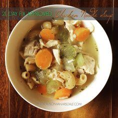 21 Day Fix Approved Chicken Noodle Soup www.alisonvanarsdale.com