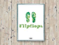 Flipflops beach printable. Flipflops babydecor by KeepMakingSmiles