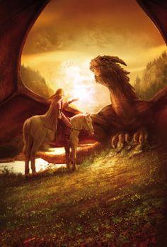 Daenerys Targaryen and Drogon #got #agot #asoiaf