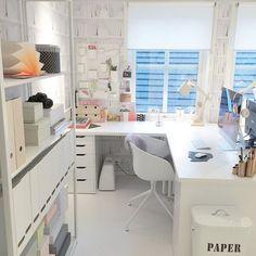 Homeoffice-Einrichtungsideen – home/dekor – Home Office Design Layout Home Office Space, Office Workspace, Home Office Design, Home Office Decor, Home Decor, Ikea Office, Office Spaces, Home Office Inspiration, Office Ideas