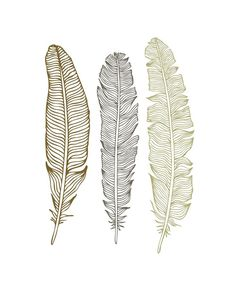 Free printables from the Oh So Lovely blog. These three simple feathers in neutral tones bring a tribal touch to any space.