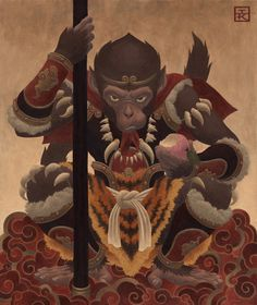 Ian Kim Awonderful rendering of what I am guessing is the Monkey King.