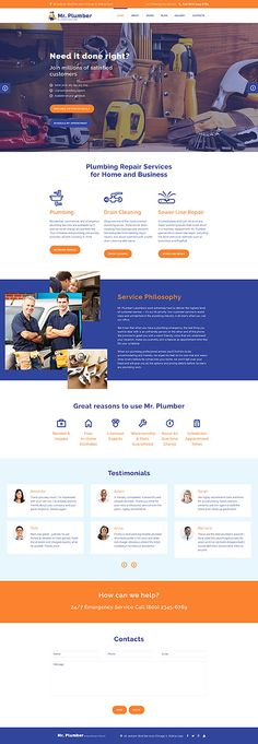Plumbing Services Website #Joomla #template. #themes #business #responsive #Joomlathemes
